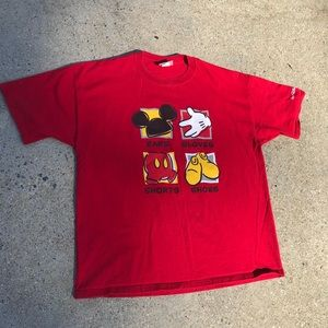 VINTAGE MICKEY MOUSE T SHIRT MENS SIZE LARGE